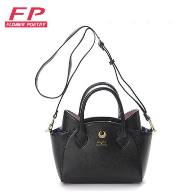 2017 WhiteBlack Sailor Moon LunaArtemis Shoulder Bag Ladies Luna Cat Leather Handbag Women Messenger Crossbody Chain Small Bag