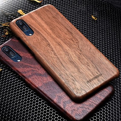 Phone Case For Huawei P20 Ultra-Thin Wood Back Shell Wood Fiber Combination Wooden Case For Huawei P20 Pro Wood Coque