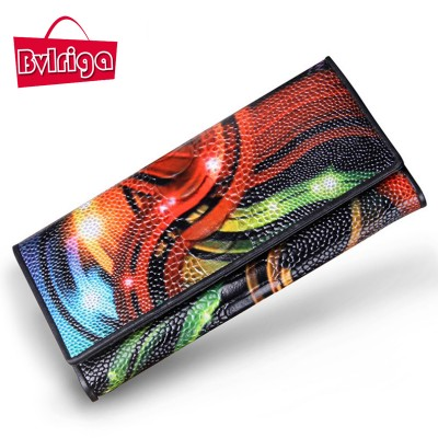 BVLRIGA Genuine leather Women Wallets Brand Design High Quality Wallet Female Fashion women clutches Long Wallets large capacity