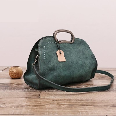 New Vintage Genuine Leather Handbag Women Fashion Shoulder Bag Designer Retro Style Cowhide Hobo Female Totes Bolsas Femininas