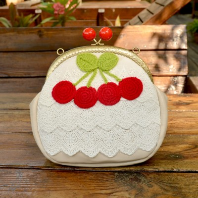 Princess Gothic lolita bag The wool sweater bag design exclusive cherry forest Girl Cute Mini Bag Satchel Purse female b0015