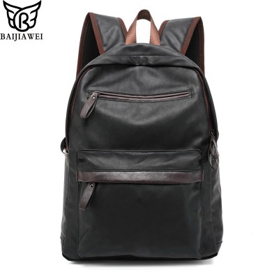 2017 New Arrival Oil Wax Leather Backpack For Men Western College Style Bags Men's Casual Backpack & Travel Bags Mochila Zip