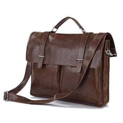Luxury Genuine Leather Men's Briefcases Office Bag Messenger Bag Leather Shoulder Bag Men Laptop Briefcase Handbag