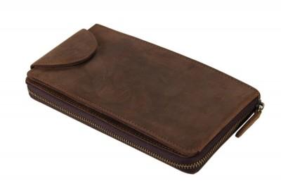 Men's genuine leather wallets male clutch bag male crazy horse leather clutch bags Men business money clip purse