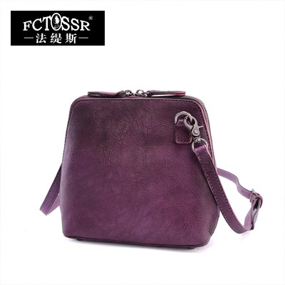 2019 Vintage Women Bags Genuine Leather Shell Casual Handmade Shoulder Bag Women Messenger Bag