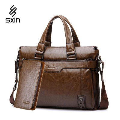 Vintage Leather Handbags Genuine Leather Briefcase for Men Laptop Briefcase Shoulder Bags Casual Crossbody Bags MaletinD018-4