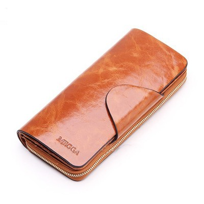 2017 Hot Sales First Layer Of Cowhide Female Wallets Zipper Genuine Leather Long Design Lovers MenWomen Wallets
