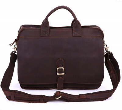 6020Q-2 100% Real Crazy Horse Leather Briefcases Men's Handbag Laptop bag Leather 15.6 inch Hot Selling