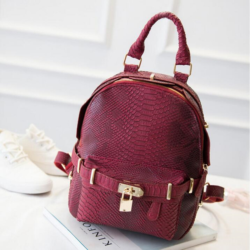 368b013b5b67 ... Women s PU Leather Backpacks Travel Bag School Bag Fashion Leisure  Shoulder Bags Z96. Image 1