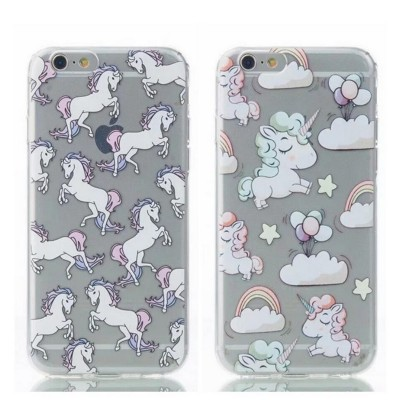 cartoon phone cases New Transparent Softphone Case For Apple iphone 6s case Cute Ma Unicorn Cartoon Pattern For iphone 6 6s 7 plus case cover cartoon cases
