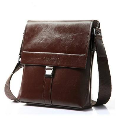 Fashion Business Briefcase Real Cowskin Men Messenger Bags Vintage shoulder cross-body bags genuine leather men bags