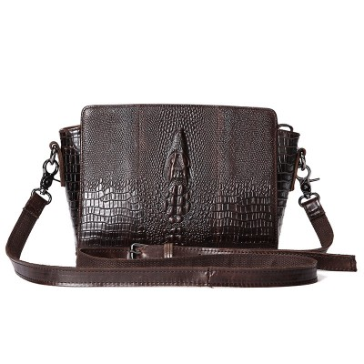 New Vintage Women Bag Female Shell Crocodile Genuine Leather Crossbody Bags For Women Luxury Brand Shoulder Bag Women Sac A Main
