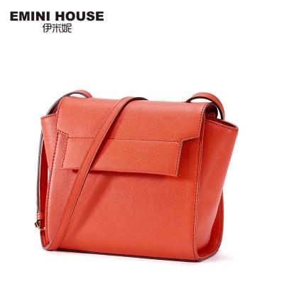 EMINI HOUSE 2017 Fashion Split Leather Flap Bag Women Messenger Bags Trapeze Women Shoulder Bags Crossbody Bags For Women