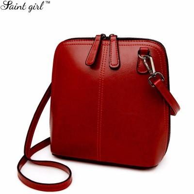 Saint Girl Fashion Ladies Shell Bag Women Leather Messenger Bags High Quality Handbags Purses Sling Shoulder Crossbody Bag MR050
