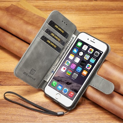 High quality Leather Flip Case For iPhone 6 6s 6plus Wallet Phone Cover iPhone 6 s plus case credit card slot funda For iPhone6