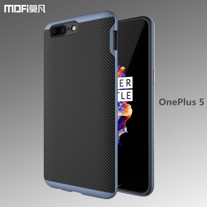 designer fashion 61082 19013 MOFi Case for Oneplus 5 back case cover MOFi original carbon fiber case  soft TPU PC frame 2 in 1 gray op5 oneplus 5 case