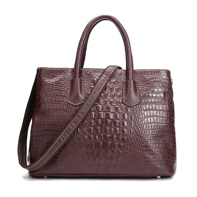 Women's leather handbag crocodile pattern casual shoulder header layer of leather fashion tide female bag diagonal