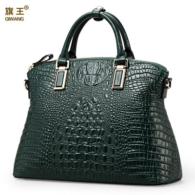 Qiwang Authentic Women Crocodile Bag 100% Genuine Leather Women Croco Handbag Hot Selling Tote Women Bag Luxury Brand Bags