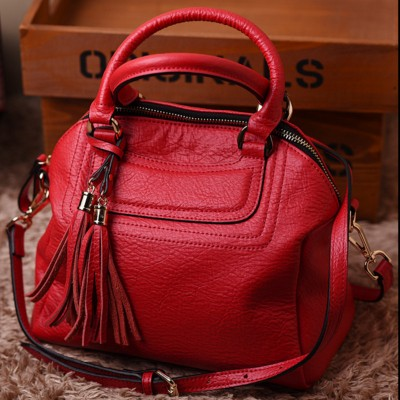European Style Shell Bags Split Leather Women Handbags Shoulder Bags Solid Color Tassel Ladies messenger Bag New Design
