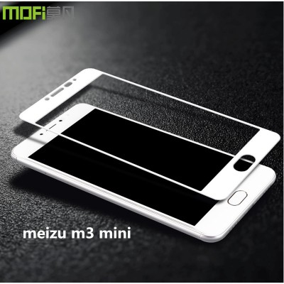 meizu m3 mini glass MOFi original white full cover screen protector meizu m3s mini tempered glass film HD anti glare 5 inch