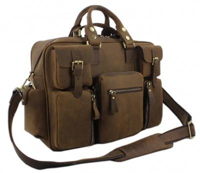 Vintage Crazy Horse Leather Men s Messenger bag Leather shoulder bag men  crossbody bag Large Briefcase male handbag tote big 5e15d6f765