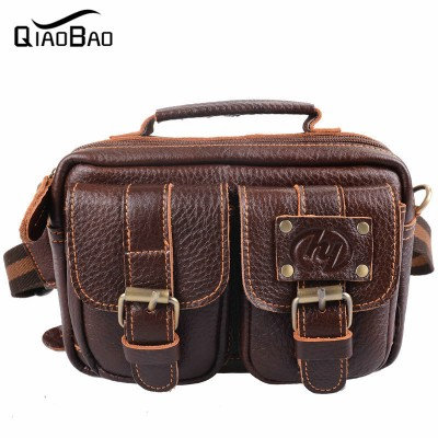 2017 Natural Genuine Leather Bags Waist Packs For Men Belt Waist Bags For Men Casual Fashion Brand Business Bag