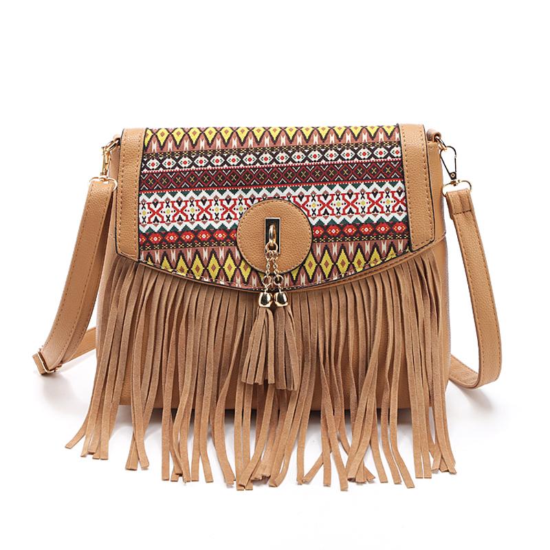 Image 1 Women Messenger Bags Handbags Famous Brands 2017 Fringe Tassel