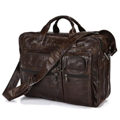 Maxdo Promotion High Quality Vintage Real Genuine Leather Briefcase Men Bag 15.6 inch Laptop Men Messenger Bags #M7093