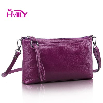 HMILY New Genuine Cow Leather Women Messenger Bag Pure Color Ladies Shoulder Bags Nine Candy Color Women Mini Bag Clutch Bag