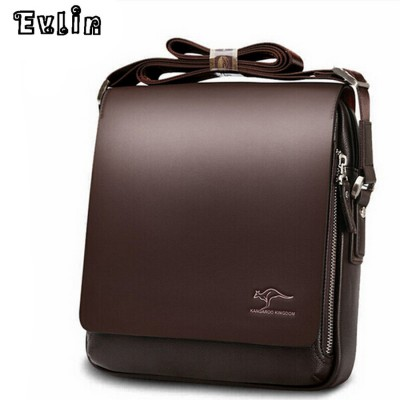 Men Messenger Bags Big Promotion Kangaroo Top Leather Shoulder Man Bag Casual Fashion Ipad Briefcase Bags Drop Shipping