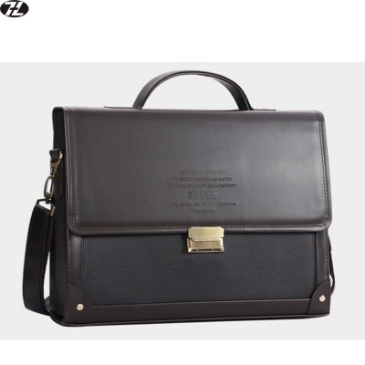Hot Sale brand leather briefcase business man handbags tote men messenger shoulder bag Combination lock men crossbody Laptop bag