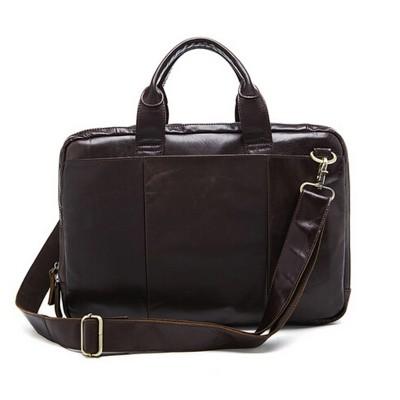 100% Genuine Leather Men Bag Vintage Crazy Horse Leather Men Messenger Bags Business One Shoulder Crossbody Bag Laptop Handbags