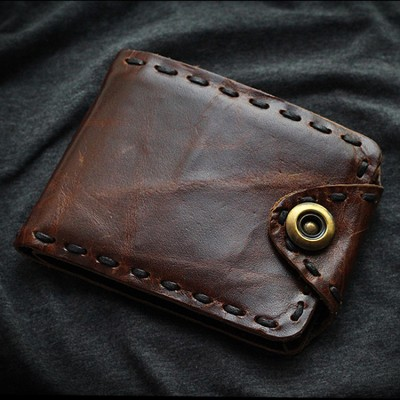 2019 Vintage Mens Genuine Leather Wallet Cowhide Special Design Real Purse For Crazy Horse Natural Cow Short Wallets