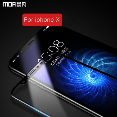 MOFI Phone Case For iphone X glass screen protector for iphonex tempered glass 3D soft edge full cover anti glare high definition HD glass guard