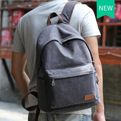2017  Canvas Backpack College Student School Backpack Bags Suit for 14 inch Computer and 1-3 Days Trip Backpack