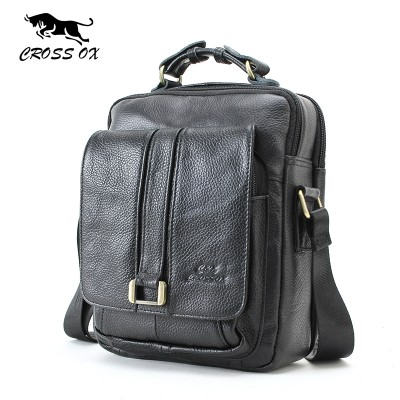 CROSS OX Business Men Genuine Leather Bag Natural Cowskin Men Messenger Bags Vintage Men's Cowhide Shoulder Crossbody Bag SL053M