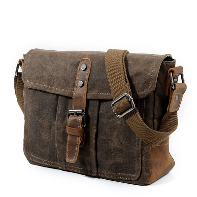 Canvas Messenger Bag For Mens Shoulder bag Vintage Satchel Man Classic Hasp Crossbody Bags Male Schoolbag
