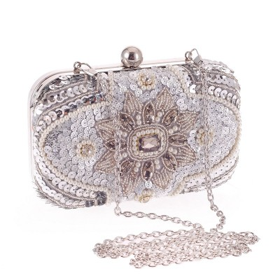 Diamond Crystal Mini Evening Party Bag Women Day Clutches Ladies Chain Gold Clutches Purses and Handbag LI-988