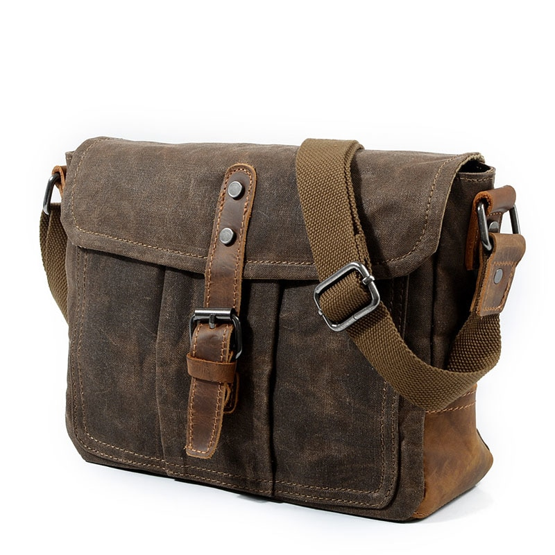 Retro Men/'s Canvas Shoulder Messenger Bag Crossbody Satchel Travel Solid Bags