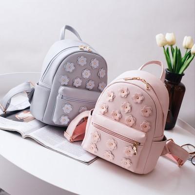 Women Flower Cute Mini Bag Printing Backpack Female Korean School Bags for Teenagers Girls Small Backpack