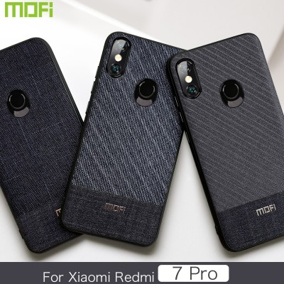 Xiaomi Redmi 7 Pro Case Xiaomi Play Cover Mofi Business Gentleman Fabric Xiaomi Redmi 7 Pro Cover Xiaomi Play Back Cover