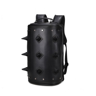 Gothic Steampunk Unique backpack cool bag steampunk fashion Men women Leather Backpack  School Bag Street Fashion Waterproof Backpack Teenager 2019