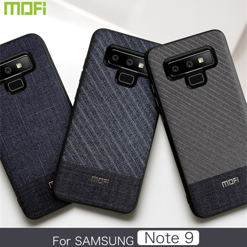 Mofi Phone Case For Samsung Galaxy Note 9 Cover Dark Gentleman Business Style Soft Cover Samsung Note9 Back Cover Phone Case