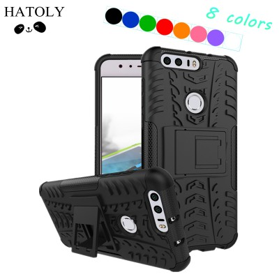 Phone Case Cover Huawei Honor 8 Case Heavy Duty Hard Rubber Silicon Phone Case for Huawei Honor 8 Cover for Huawei Honor 8 Bag