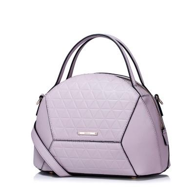 2019 New Fashion Shell Domed Bag Women's Cowhide Leather Tote Handbag Versatile Ladies Shoulder Bag Crossbody Purse