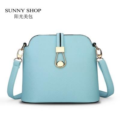 f0c0ed3b5df SUNNY SHOP Spring Summer New Candy Color Fresh Small Women Shoulder Bag  Fashion Shell Women Messenger