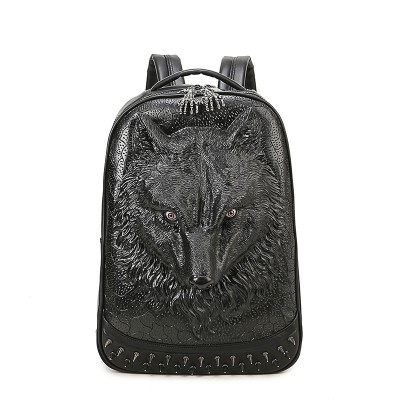 3D Animal PU Leather Backpacks Gothic Steampunk Unique backpack cool bag steampunk fashion Women Men Backpack Rivet Computer Bags Good Quality Fashion Travel Bags 2019