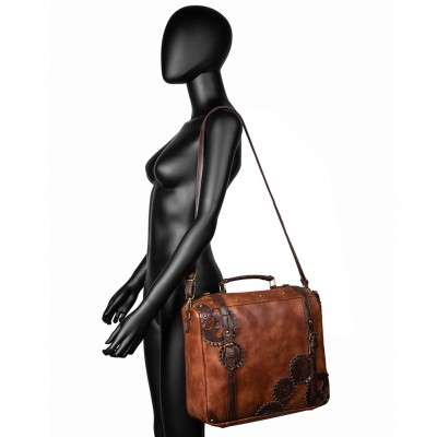 Steampunk Big Handbag Vintage Gothic Exclusive Retro Rock Bags Leather Shoulder Bag New Fashion Halloween Handbags