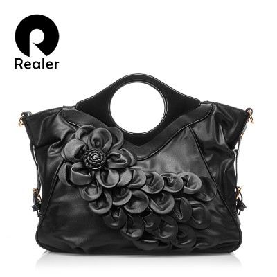 2019 Fashion Women 3D Red Flower Bags High Quality PU Leather Ladies Tote Bag Female Handbag Women Cross Body Shoulder Bags