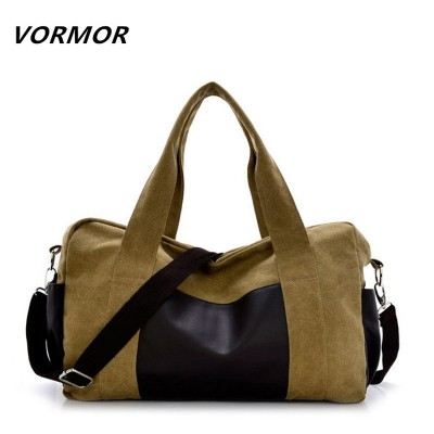 Fashion Men&Women Travel Bags High Quality Canvas+PU Luggage Bag, Business Handbag Large Capacity Shoulder Bags